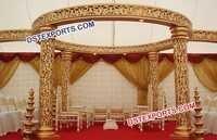 Wedding Gold Jali Mandap