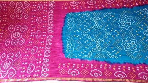 Handmade Silk Bandhani Saree