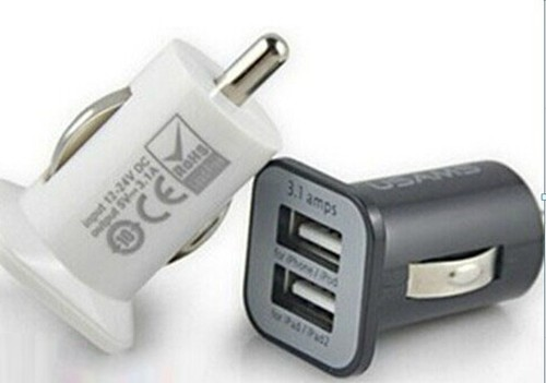 5V 3.1A Square bottom Dual USB car charger for smart phone