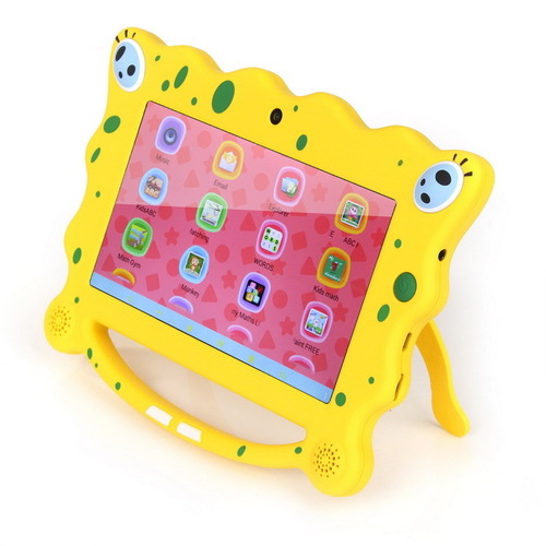 7inch 8GB Android 4.4 KitKat Dual Core Dual Cam Cute Cartoon Kids Babypad Tablet SpongeBob