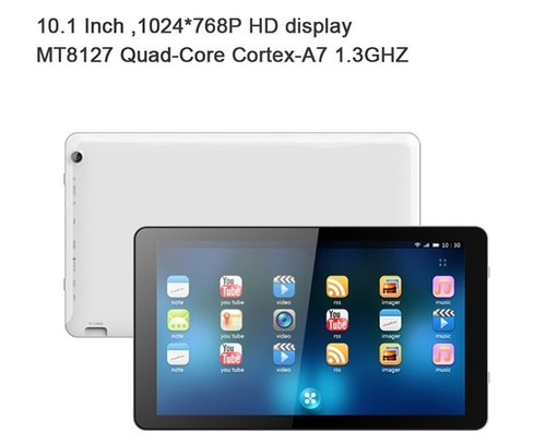 10.1 inch wifi Tablet with MTK MT8127 Quad-Core Processor Android 4.4
