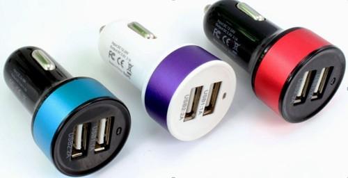5V 3.1A Circular Dual USB car charger for smart phone