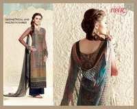 Geomarical Multicolor Cotton Silk Unstitch Printed Salwar Kameez