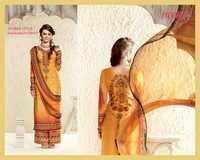 Ombre Style Maharani Print Unstitch Cotton Silk Salwar Kameez