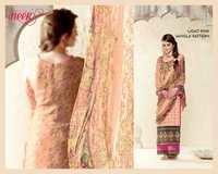 Light Pnk Jangla Pattern Unstitch Cotton Silk Salwar Kameez