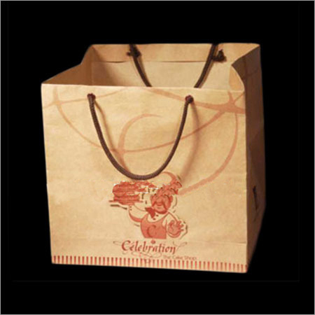 Printed Brown Paper Bag