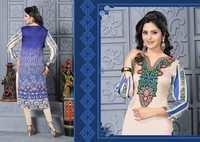 Blue Designer Embroidered Readymade Kurti