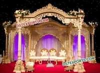 Wedding Wooden Akshar Mandap