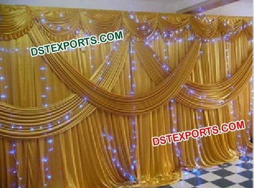 Indian Wedding Gold Backdrop