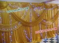 Indian Wedding Gold Backdrop