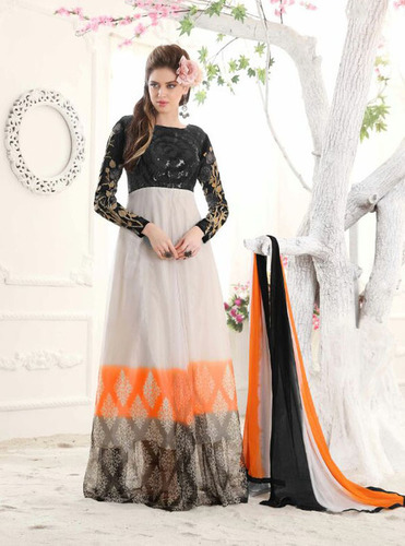 White Soft Georgette Exclusive Suit