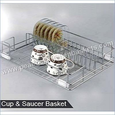 SS Cup & Saucer Basket
