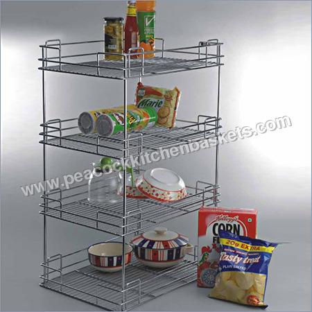 4 Shelf Kitchen Organiser