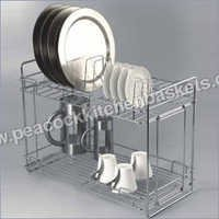 Foldable Double Layer Kitchen Basket