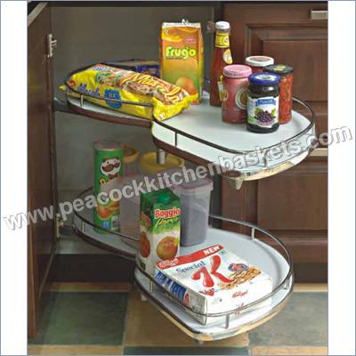 Kitchen Corner Rotating Shelves