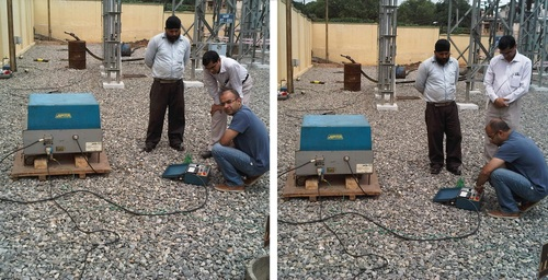 0.1 VLF testing of 66KV Cables Banglore