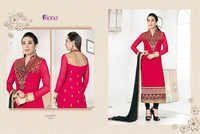 Karishma Kapoor Pink & Black Embroidered Georgette Suit