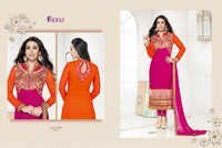 Karishma Kapoor Pink Embroidered Georgette Suit