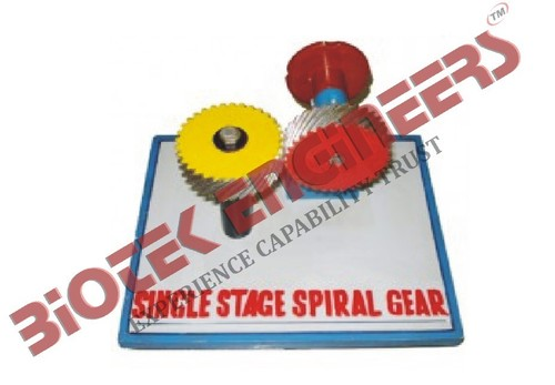 Single Stage Spiral Gears