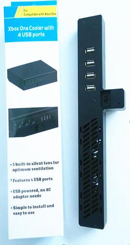 blakc 4 usb ports usb expand HUB fan for xbox one