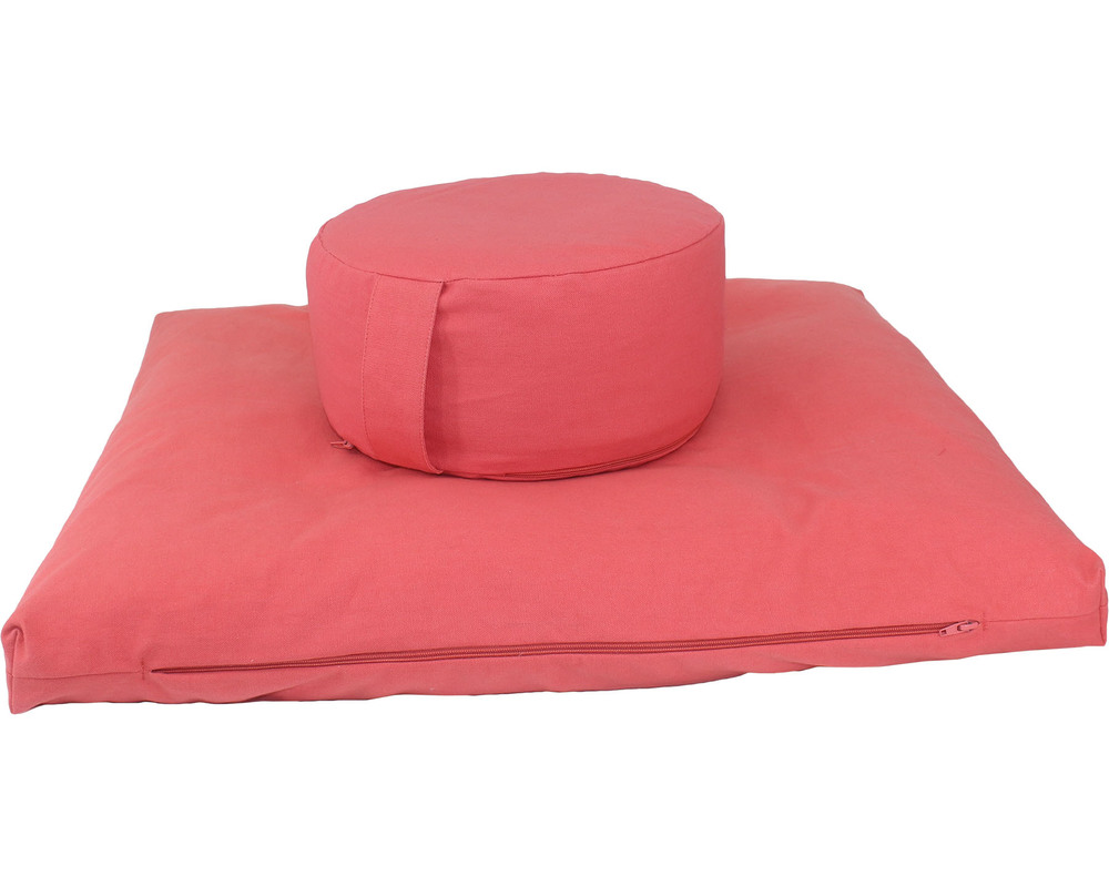 Meditation Cushion Set- Red