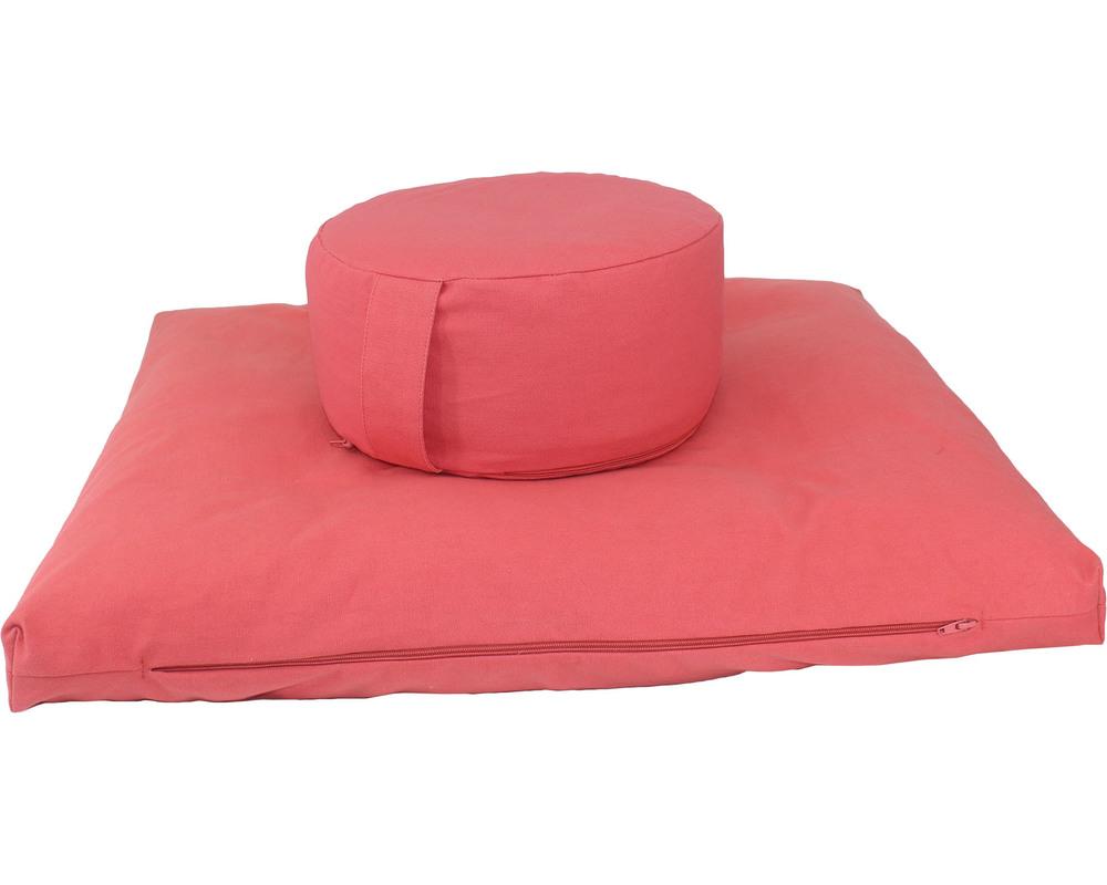 Meditation Cushion Set- Shell Pink Plain