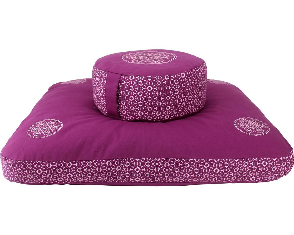 Meditation Cushion Set- Boysenberry