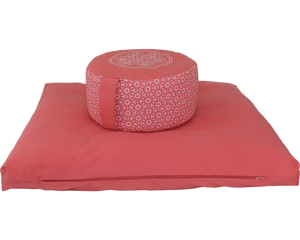 Meditation Cushion Set- Shell Pink