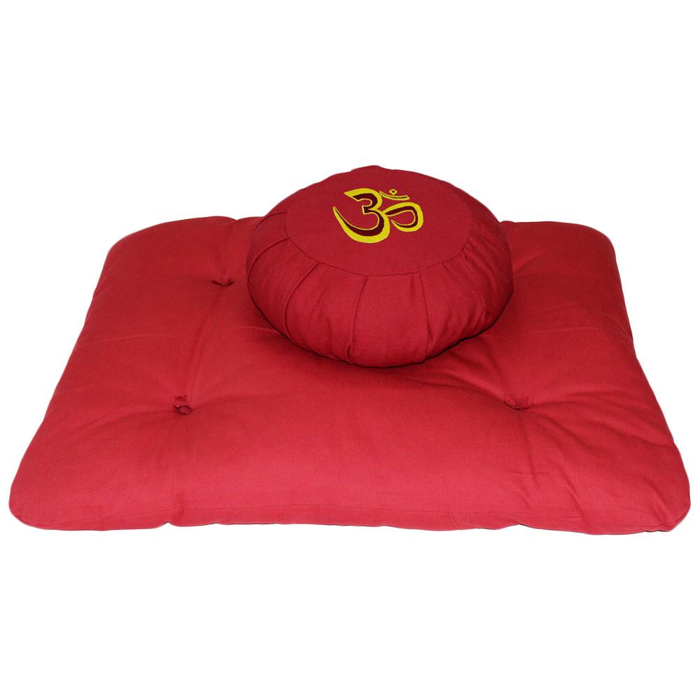 Meditation Cushion Set- Red