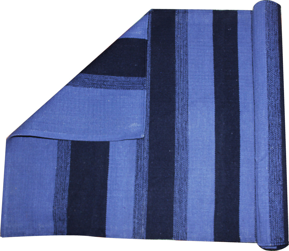 Yoga Rug/ Mat Blue Stripe