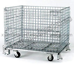 Wire-Mesh Trolley For Material Handling