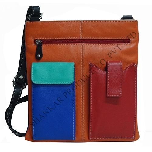 Multi Color Leather Sling Bag