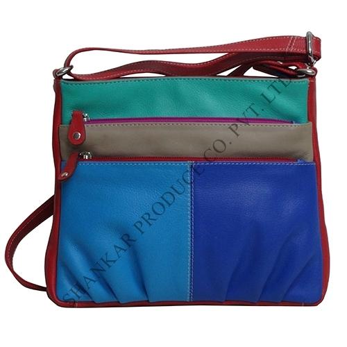 Leather Multi Color Shoulder Bag