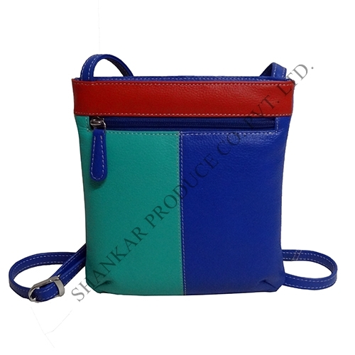 Multi Color Leather Sling Crossbody Shoulder Bag