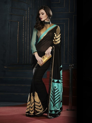 Latest Embroidered Sarees