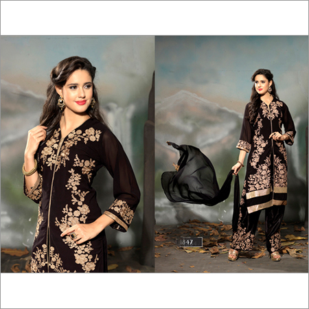 LATEST EMBROIDERED DESIGNER STRAIGHT SUIT