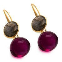 Pink Tourmaline & Labradorite Gemstone Earring