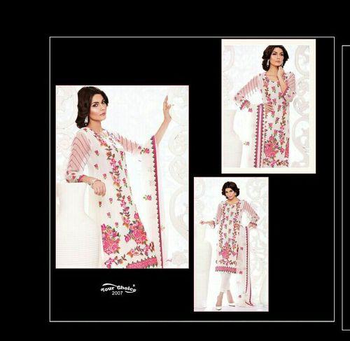 Chiffon embroidery Dupatta Suit