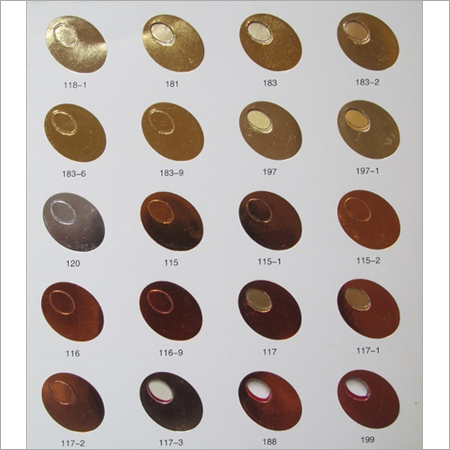 Oval Shaped Hot Stamping Foil