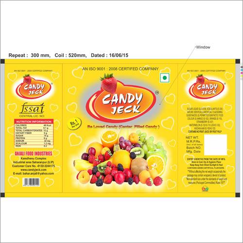 Mango heart center filled candy