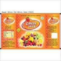 Orange heart center filled candy