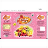 Strawberry heart center filled candy