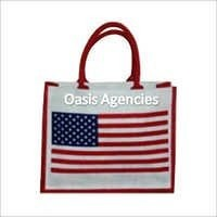Flag Print Jute Promotional Bag