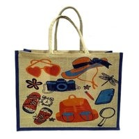 Printed Natural Jute Bag