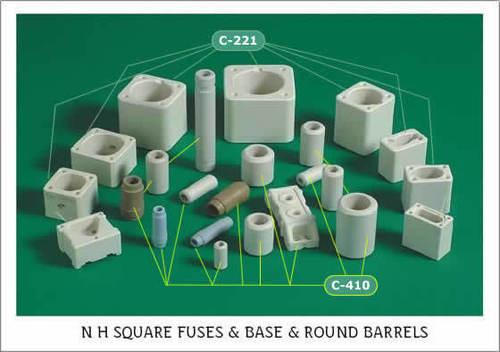 N H Square Fuse Bodies & Round Barrels (Tubes)