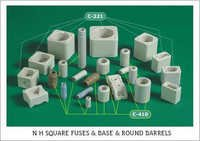 N H Square Fuse Bodies & Round Barrels (Tubes)
