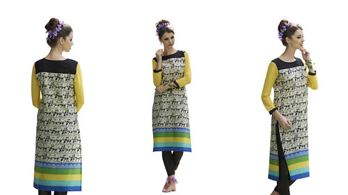 Low Range Front And Back Designer Kurti