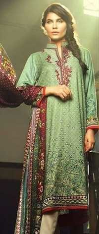 Green Designer Casual Wear Pashmina Suit