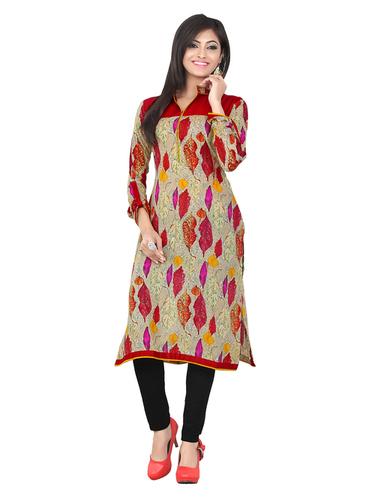 Simple And Designer Cambric Cotton Kurti