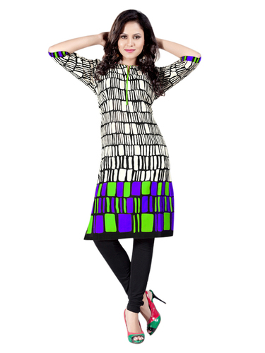 Simple And Designer Cambric Cotton Kurti